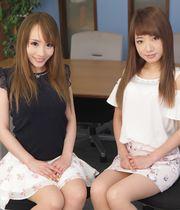 Miyu Nakayama and Arisa Sonoda